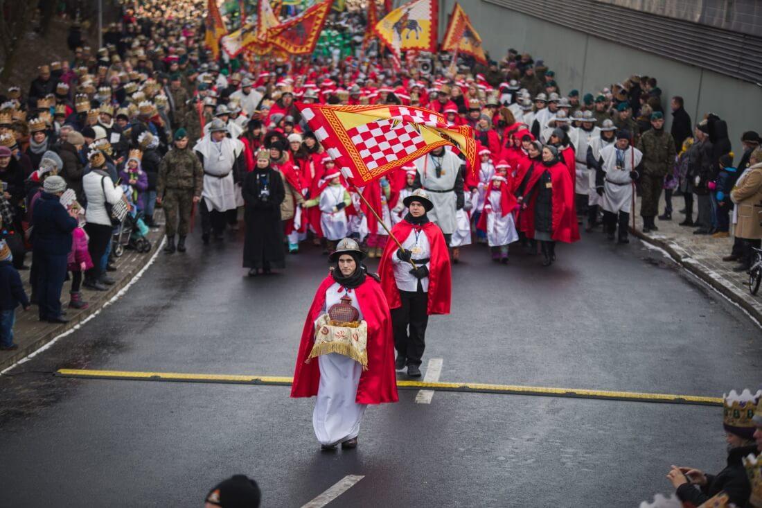 Католики Польши на празднике Богоявления в польском Жешуве, «Шествие Трех королей»