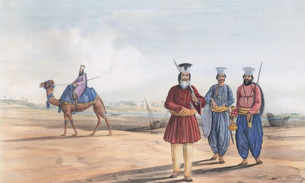 Литография человека Синдхи и его сопровождающих Джеймса Аткинсона