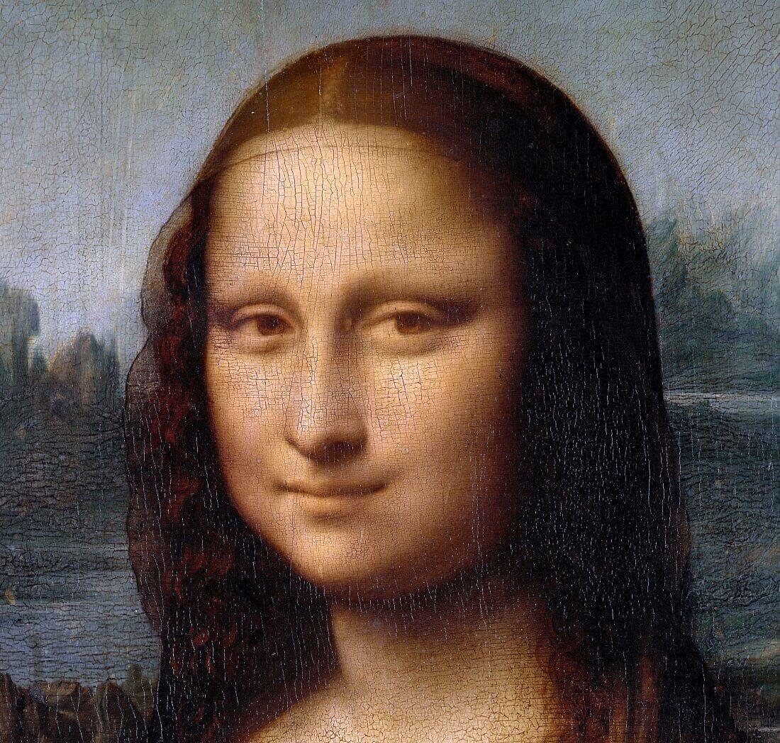 Мона Лиза или Джоконда. Фрагмент картины