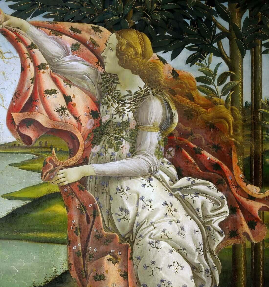 Ора Талло, небесная привратница. Фрагмент картины