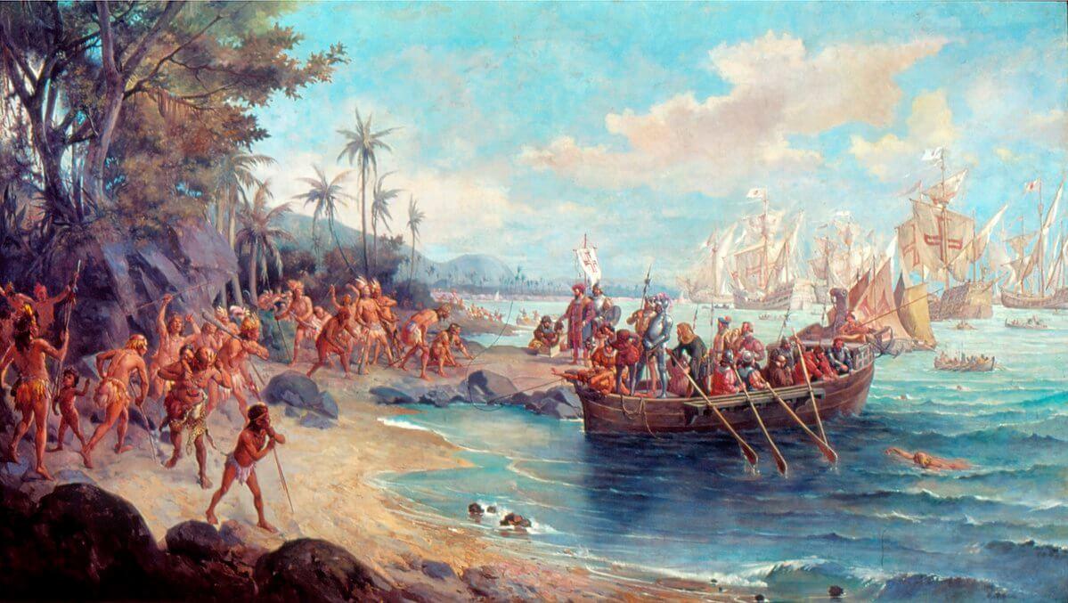 Оскар Перейра да Силва «Посадка Педро Альвареса Кабрала в Порту-Сегуру в 1500 году»