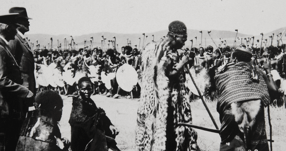 Отречение от престола королевы Свазиленда регента Лаботсибени О. Тугвелл (фотограф) Эсватини 22 декабря 1921 RV-A293-10