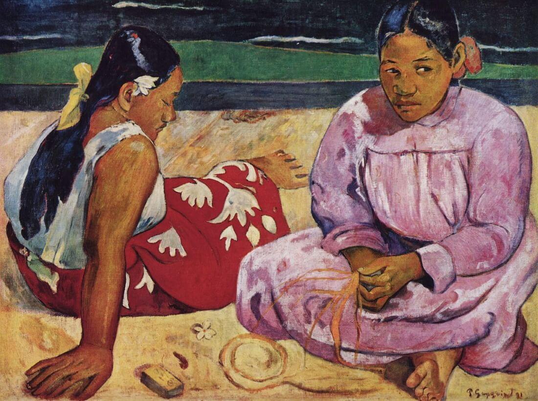 Поль Гоген «Таитянские женщины на пляже», 1891 год