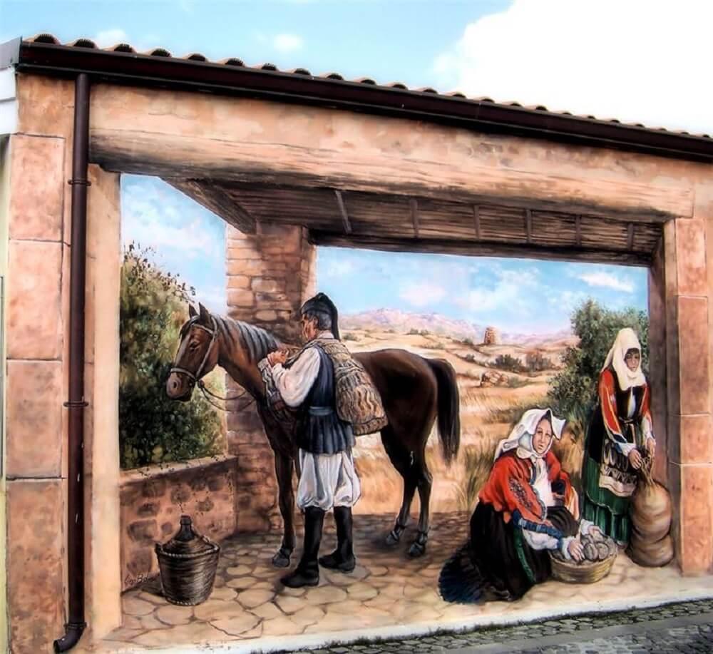 Сардиния рисунок на доме