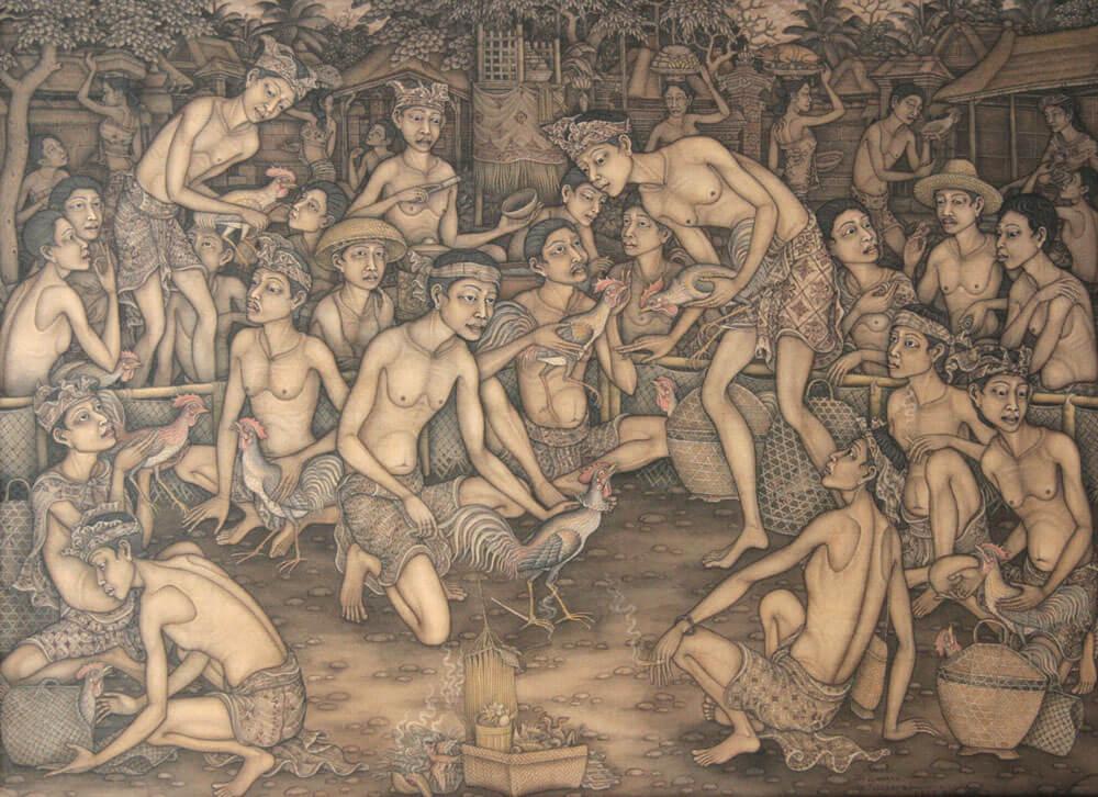 Традиционная балийская живопись I Кетута Гинарса