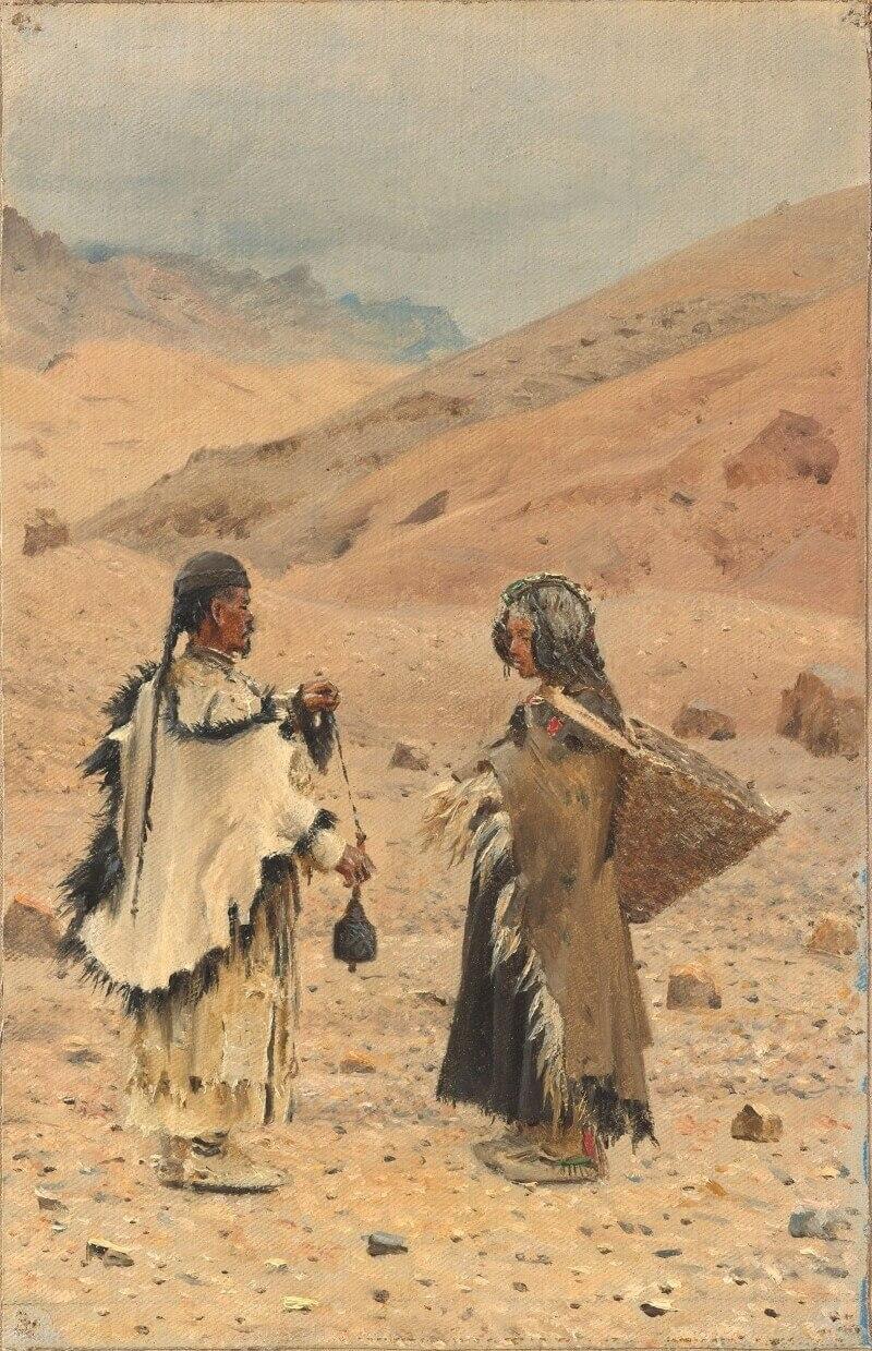 Василий Верещагин «Жители Западного Тибета», между 1874 и 1876 годами