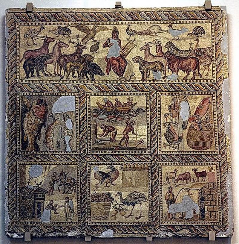 Вилла Орфея на северо-западе от древнего города Лептис-Магна,