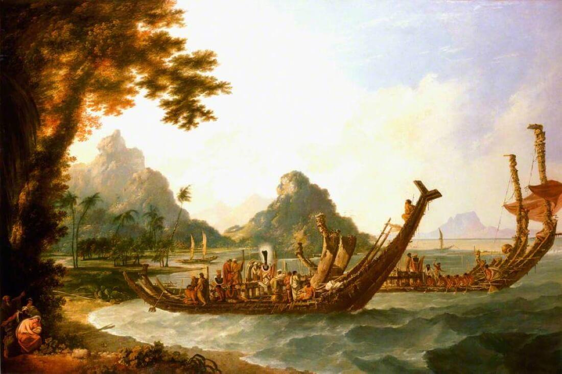 Военные корабли острова Отахейте (Таити) и Островов Общества