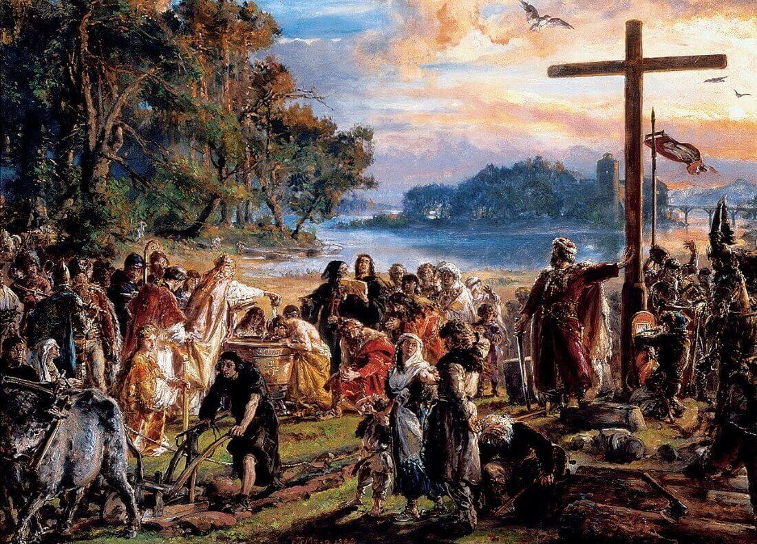 Ян Матейко «Христинизация Польши»