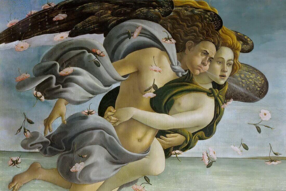 Зефир с супругой. Фрагмент картины «Рождение Венеры»
