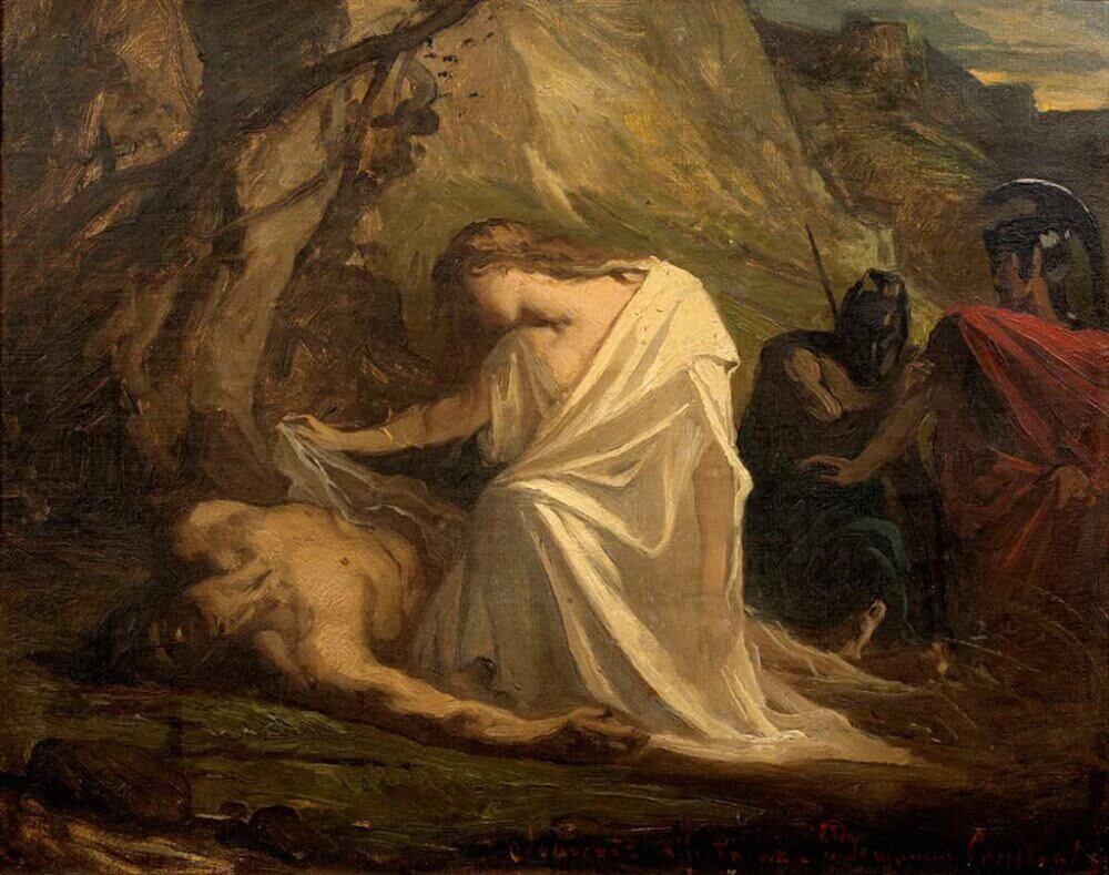 Жан-Жозеф Бенжамен-Констан «Антигона у тела Полиника»