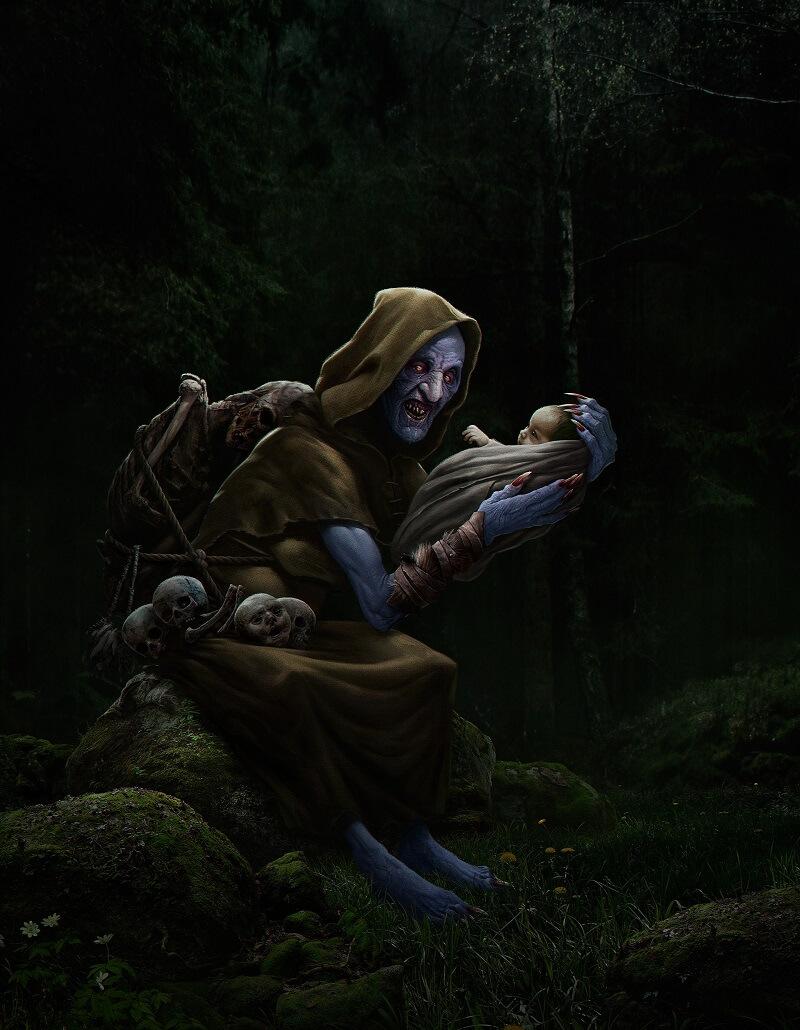 Чёрная Аннис, такой стали видеть богиню Дану христиане