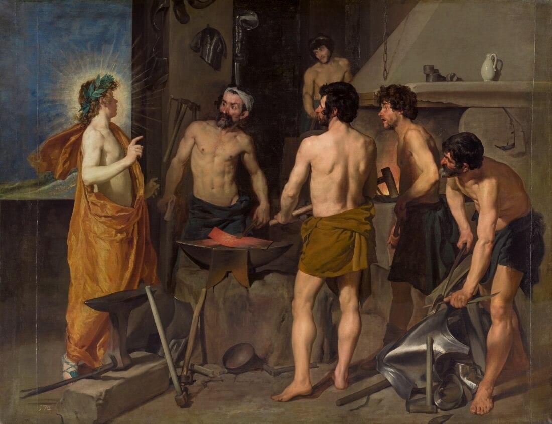 Диего Родригес де Сильва и Веласкес «Аполлон в кузнице Вулкана», 1630 год