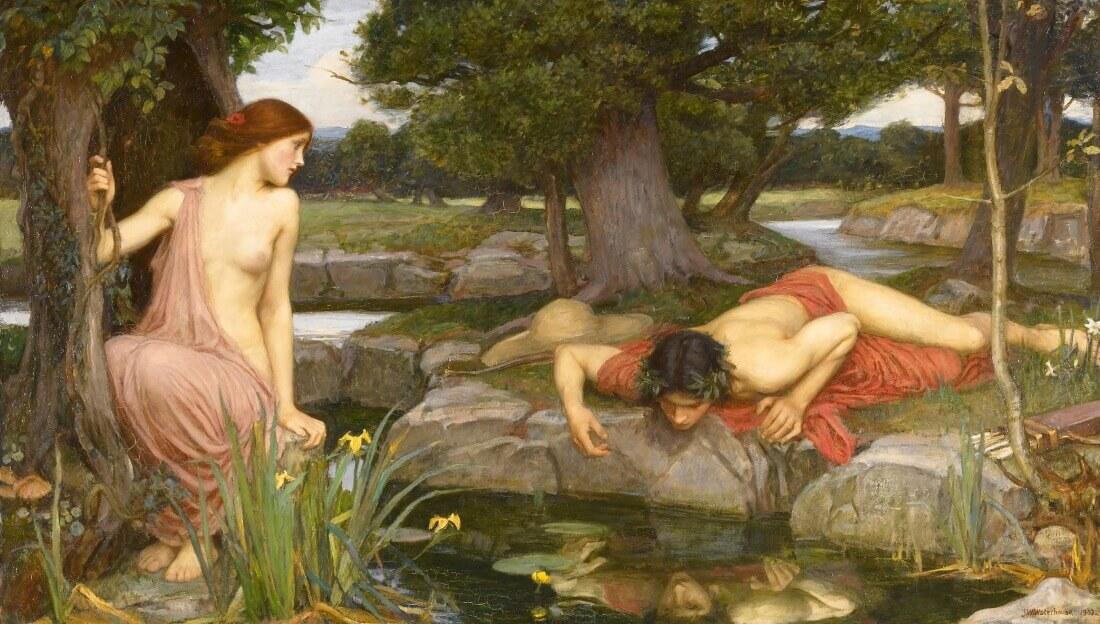 Джон Уильям Уотерхаус «Эхо и Нарцисс», 1903 год