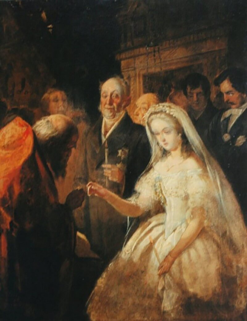Эскиз картины «Неравный брак», 1862 год