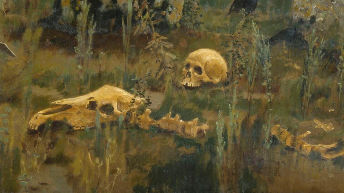 Фрагмент картины «Витязь на распутье»