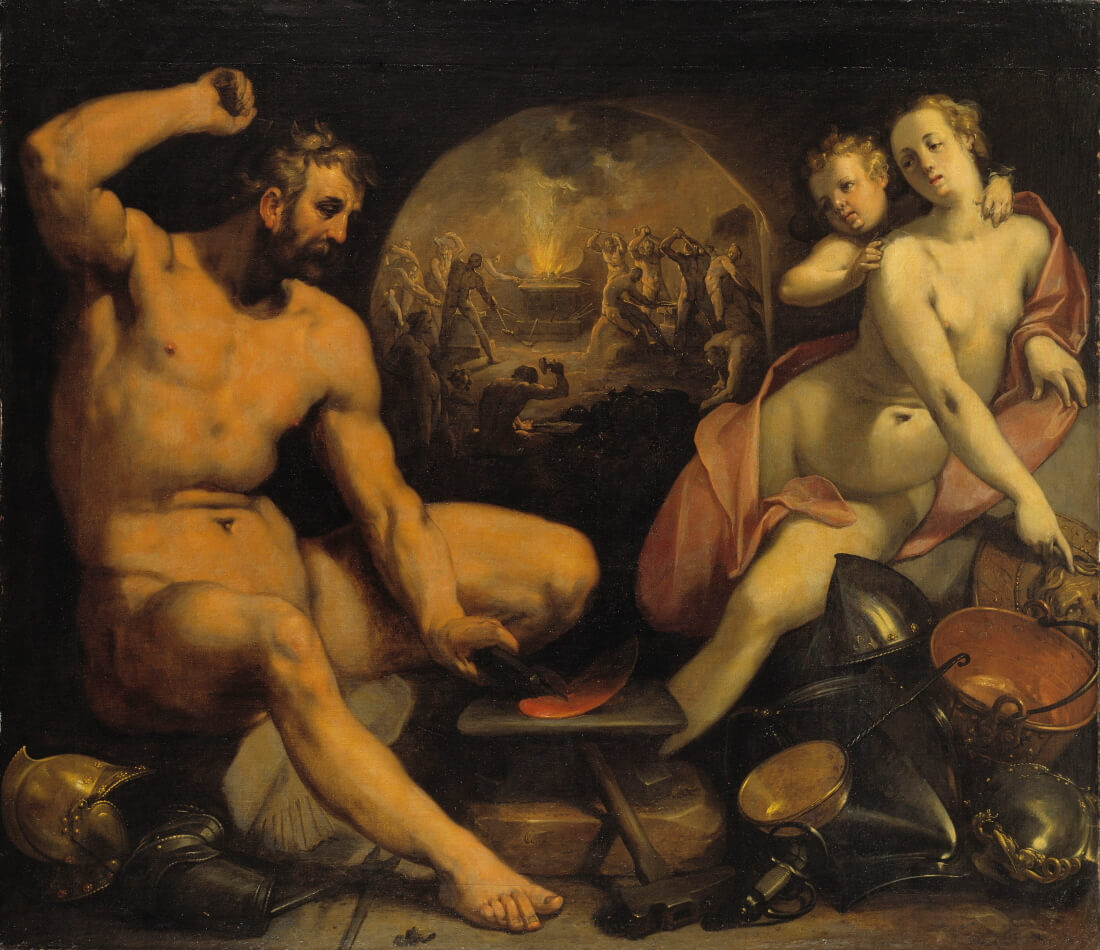 Корнелис Корнелиссен ван Гарлем «Венера и Вулкан», 1590 год