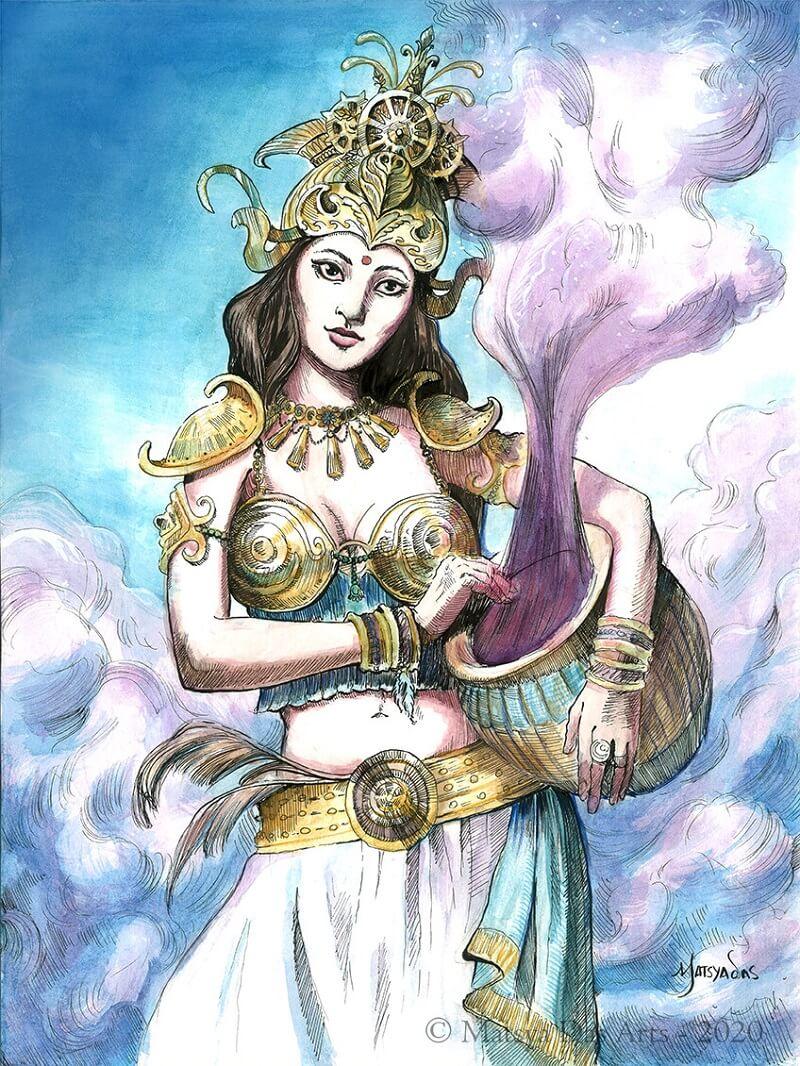 Небесная танцовщица апсара