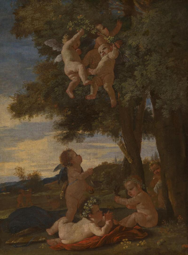 Никола Пуссен «Амуры и гении», 1630-1633 годы