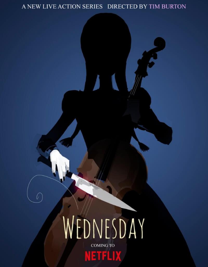 Обложка к сериалу Тима Бертона «Wednesday»