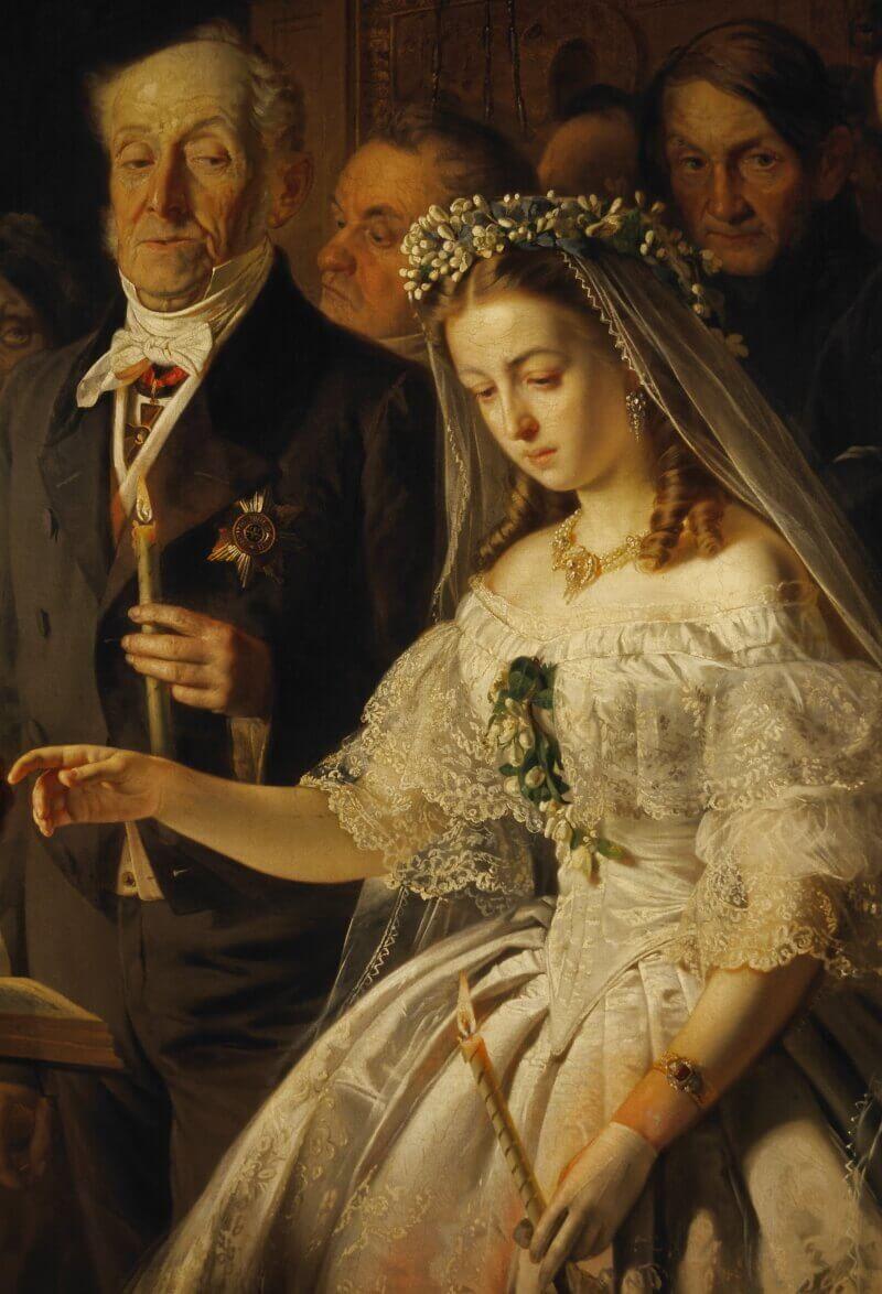 Образы невесты и жениха на картине «Неравный брак»