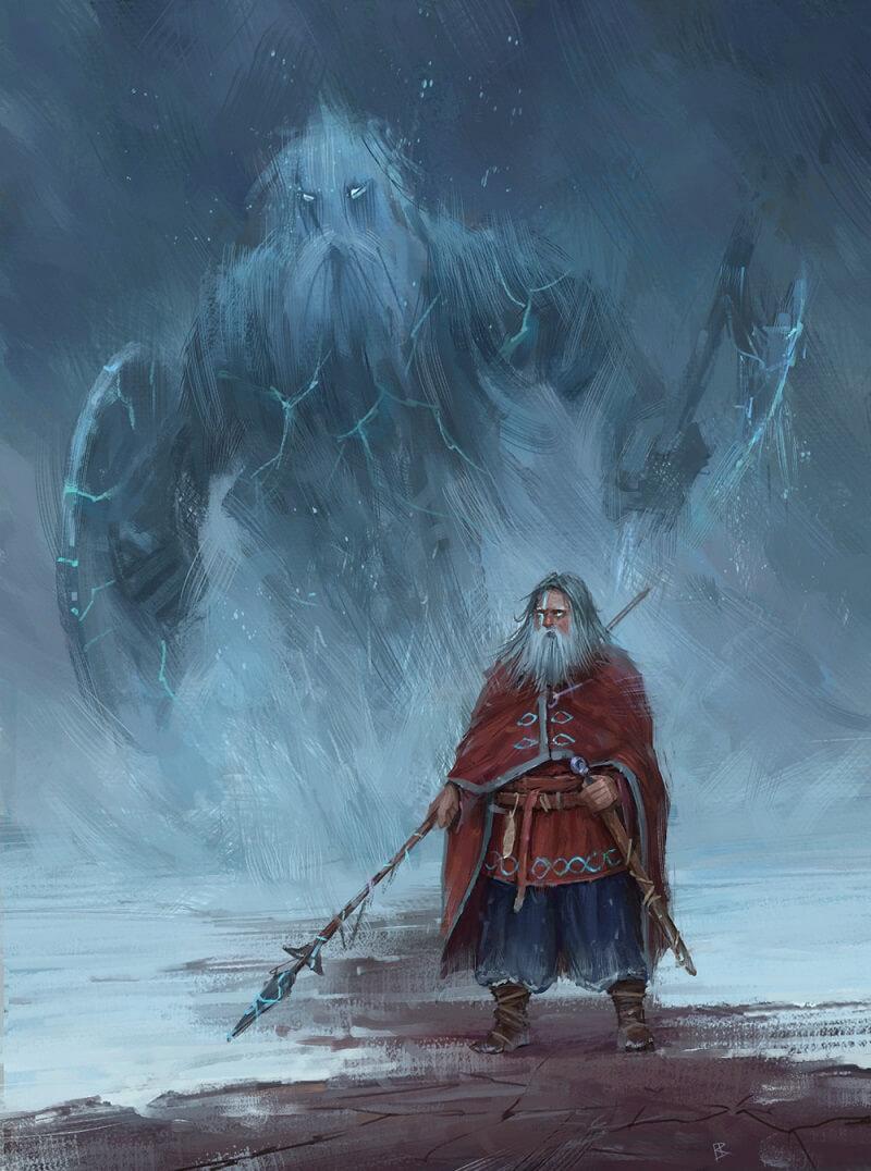Бог Один и великан Мимир