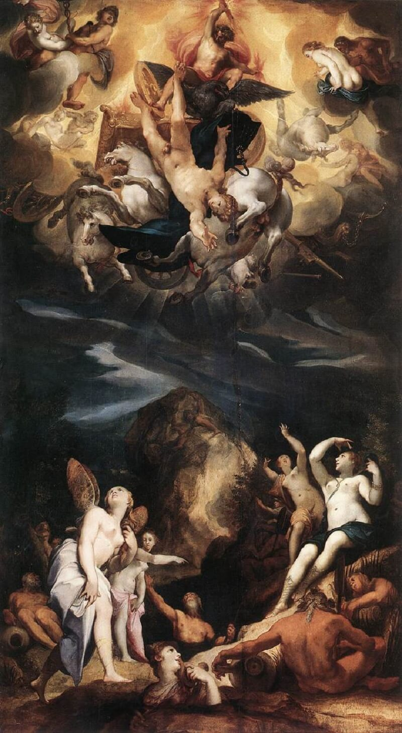 Йозеф Хайнц Старший «Падение Фаэтона», 1596 год