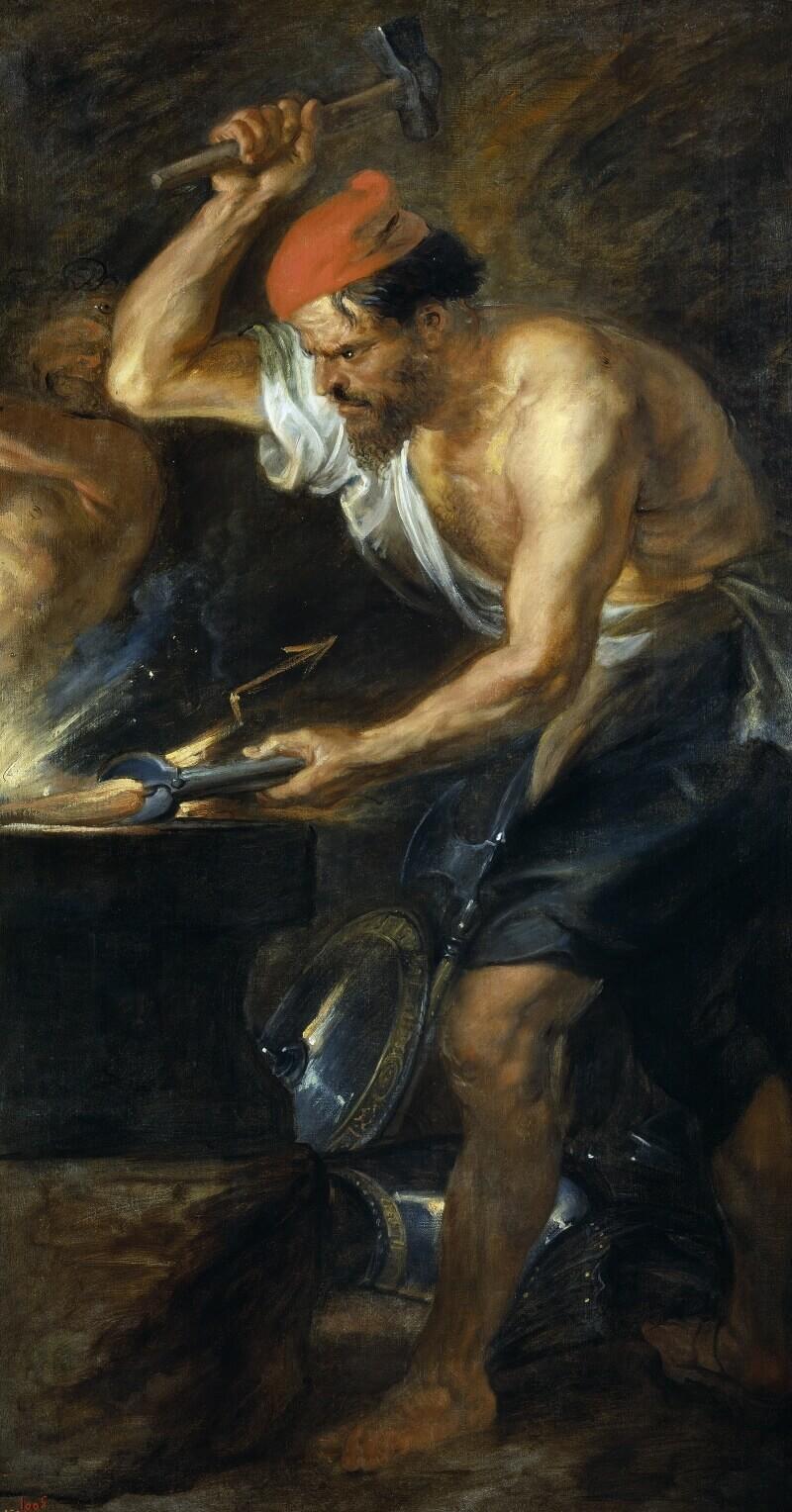 Питер Пауль Рубенс «Вулкан кует молнии Юпитеру», 1636-1637 годы