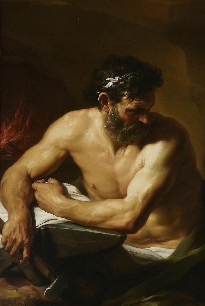 Помпео Батони «Римский бог Вулкан»