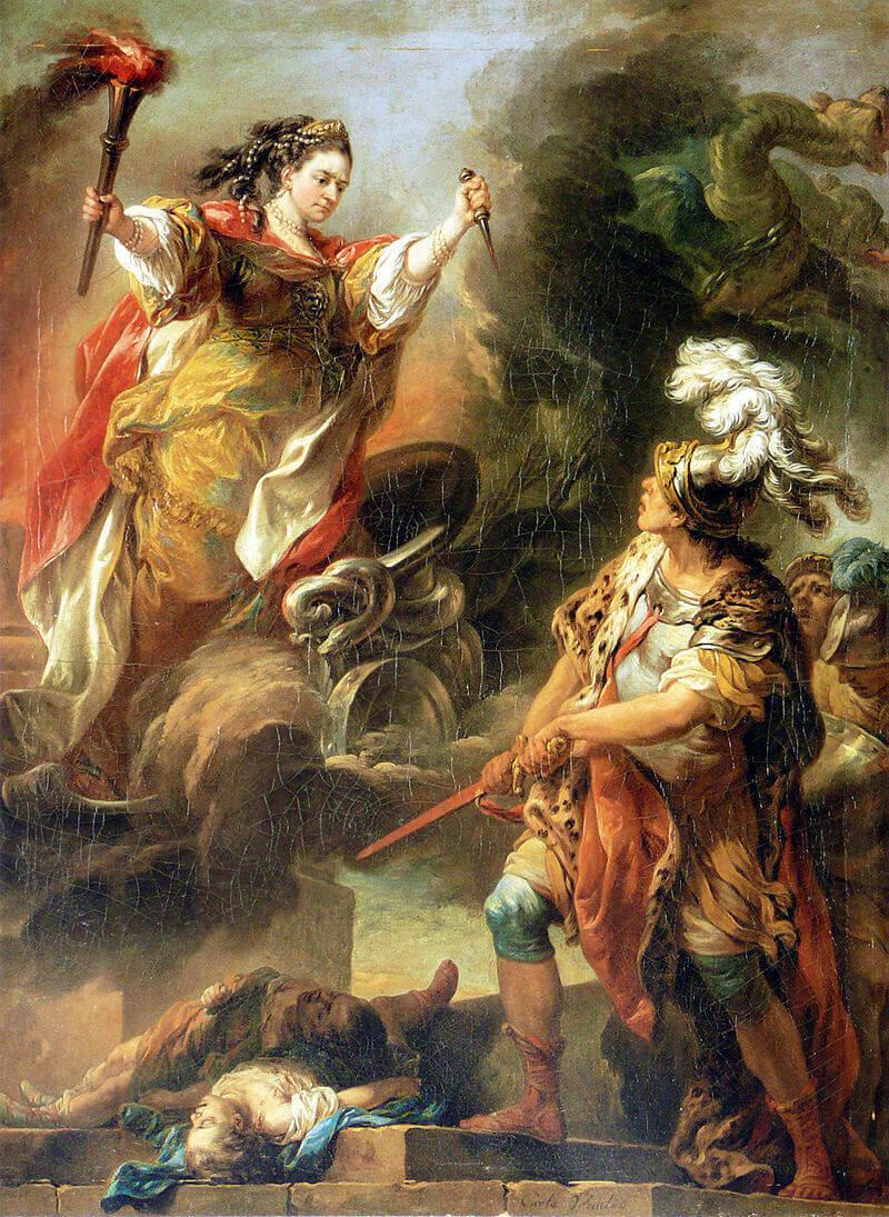 Шарль Андре Ван Лоо «Медея, убившая своих детей», 1760 год