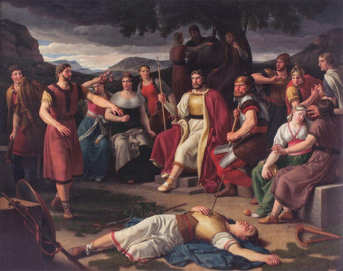 Кристоффер Вильхельм Эккерсберг «Смерть Бальдра», 1817 год