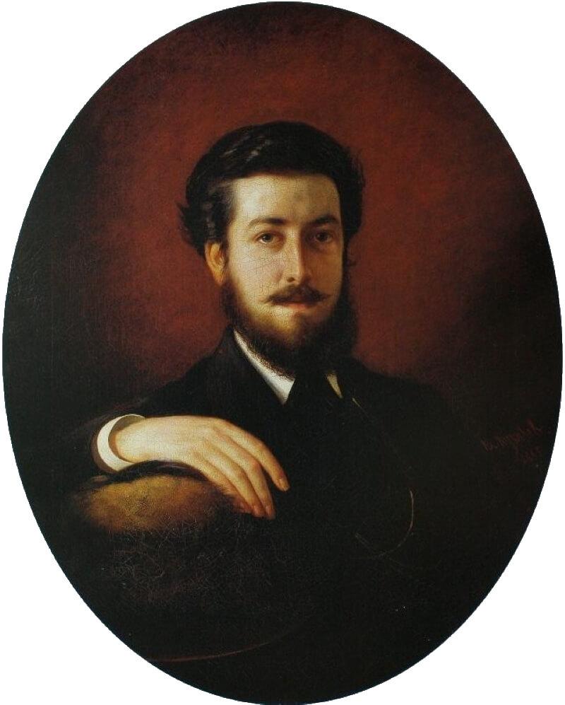 Василий Владимирович Пукирев «Автопортрет», 1868 год
