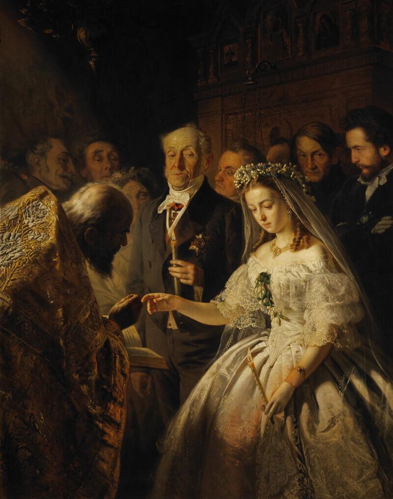 Василий Владимирович Пукирев «Неравный брак», 1862 год