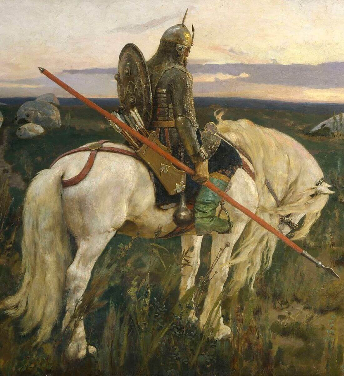 Витязь и его конь, фрагмент картины «Витязь на распутье»