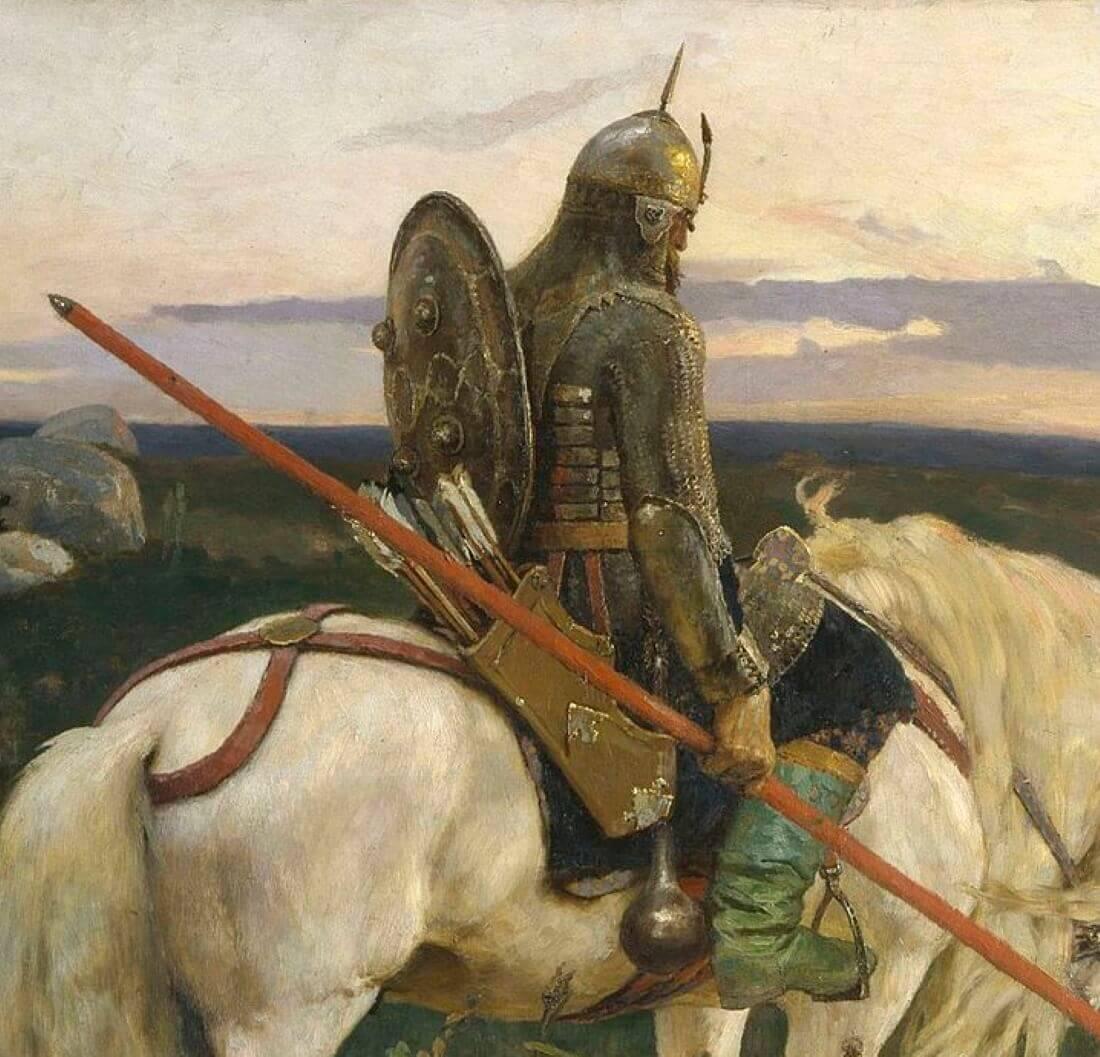 Витязь на коне, фрагмент картины «Витязь на распутье»