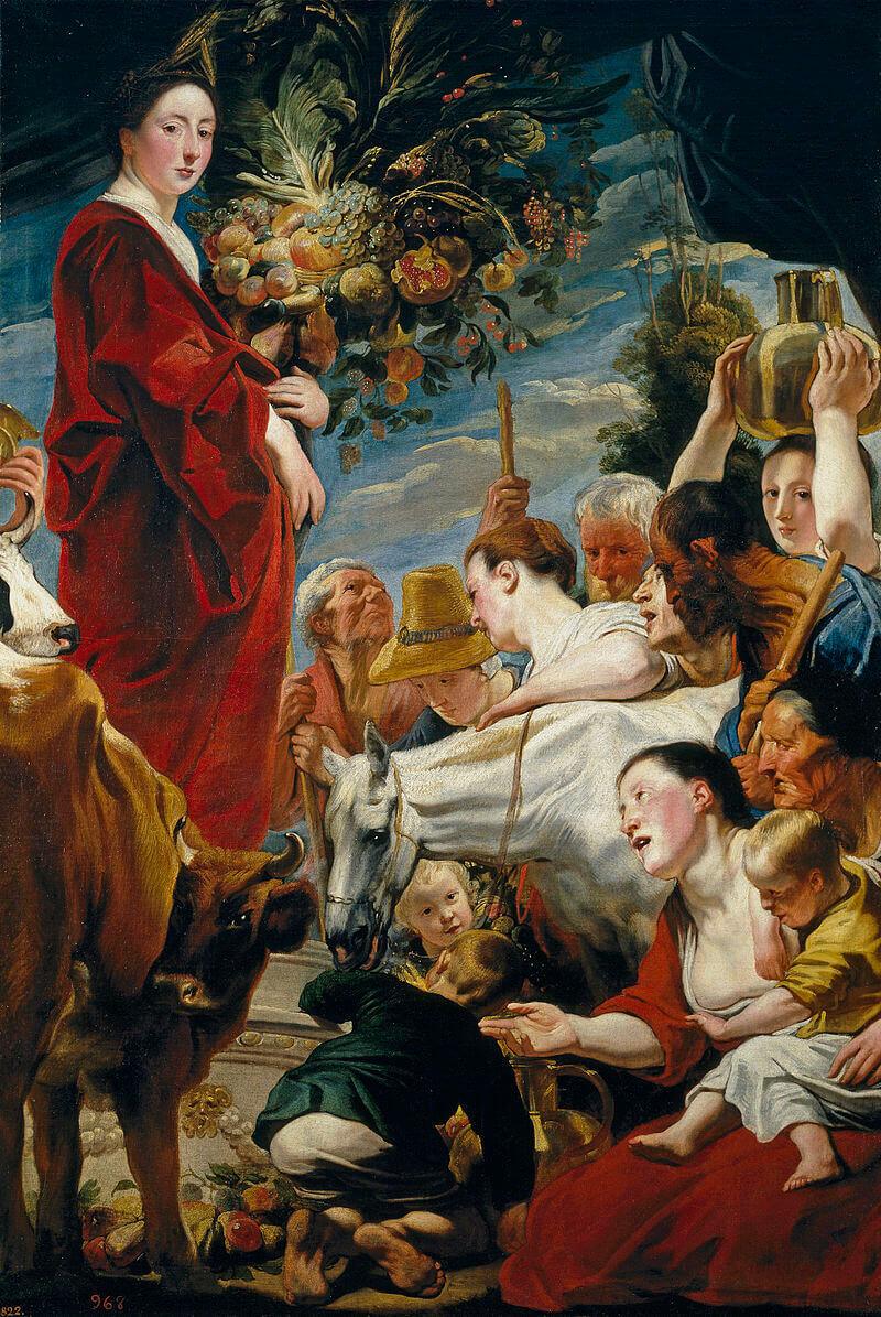 Якоб Йорданс «Подношение Церере, богине урожая», около 1619 года