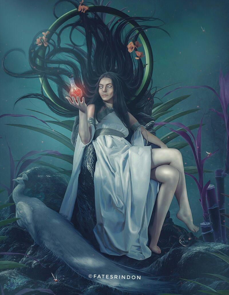Жена Посейдона богиня Амфитрита