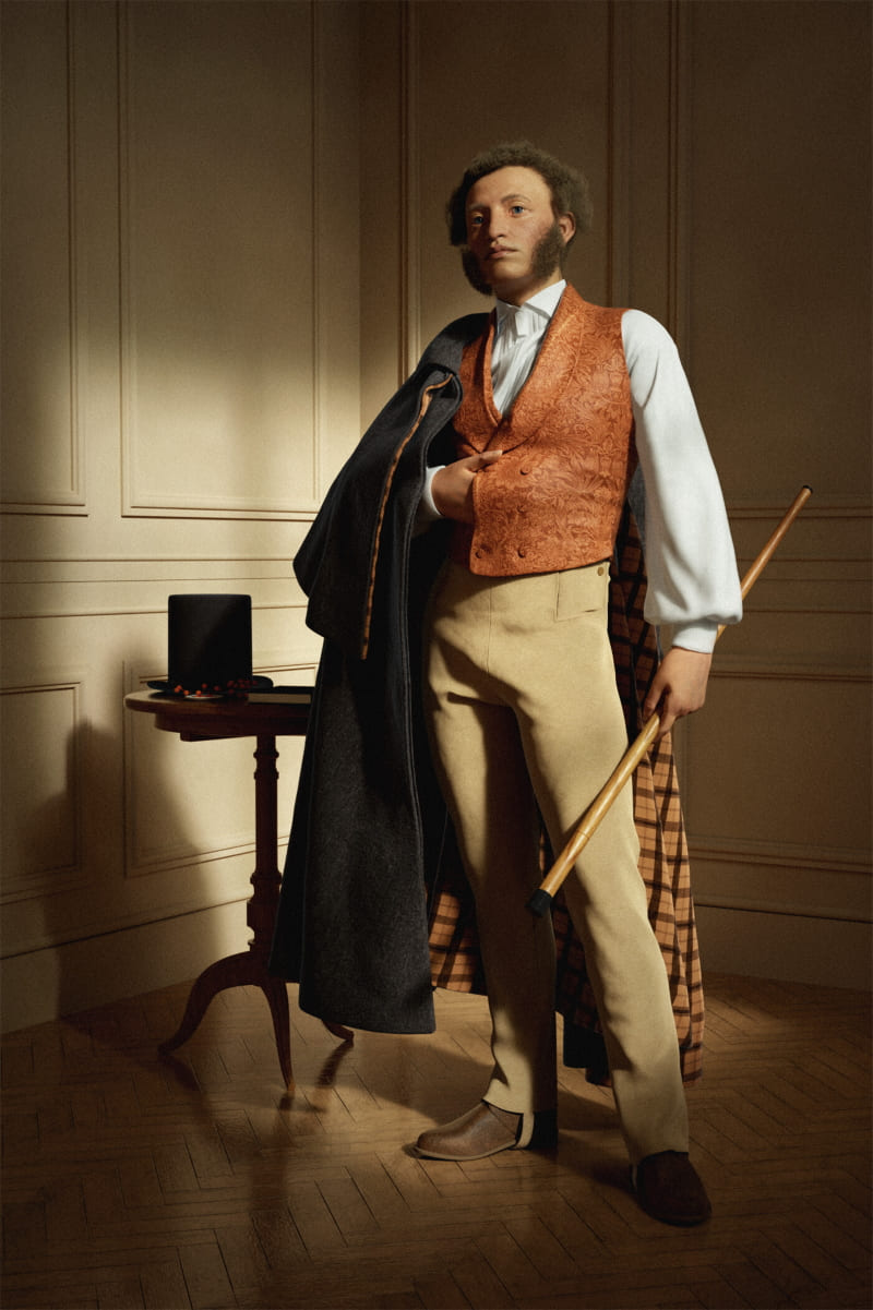 Александр Пушкин - популярный русский писатель / © Lubov Lobanova / lobanovalubov.artstation.com