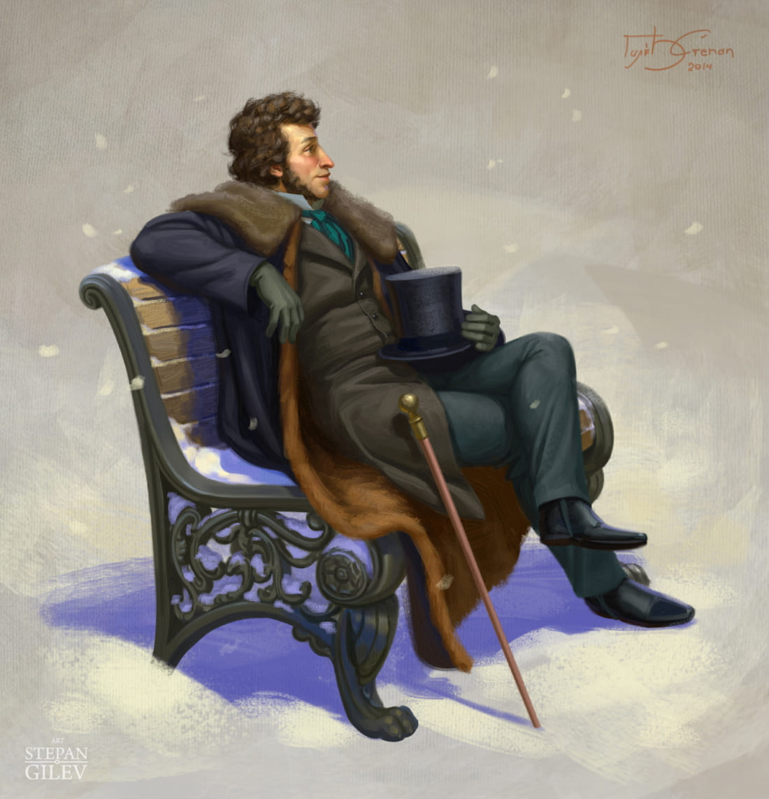 Александр Сергеевич Пушкин - русский поэт / © Stepan Gilev / stepangilev.artstation.com