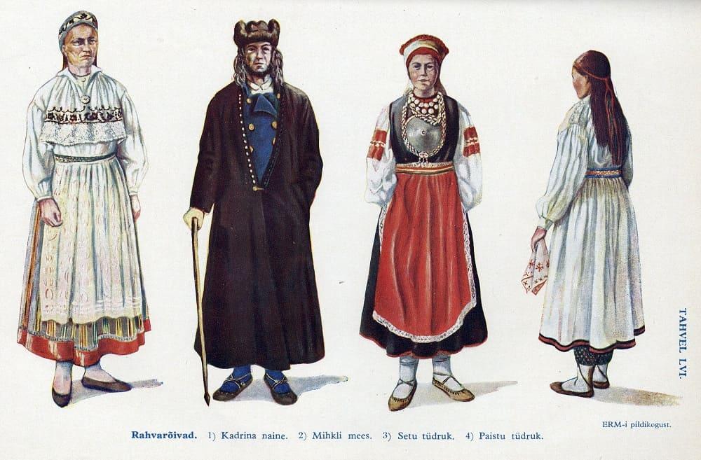 Эстонский национальный костюм «Эстонская энциклопедия», 1932 год