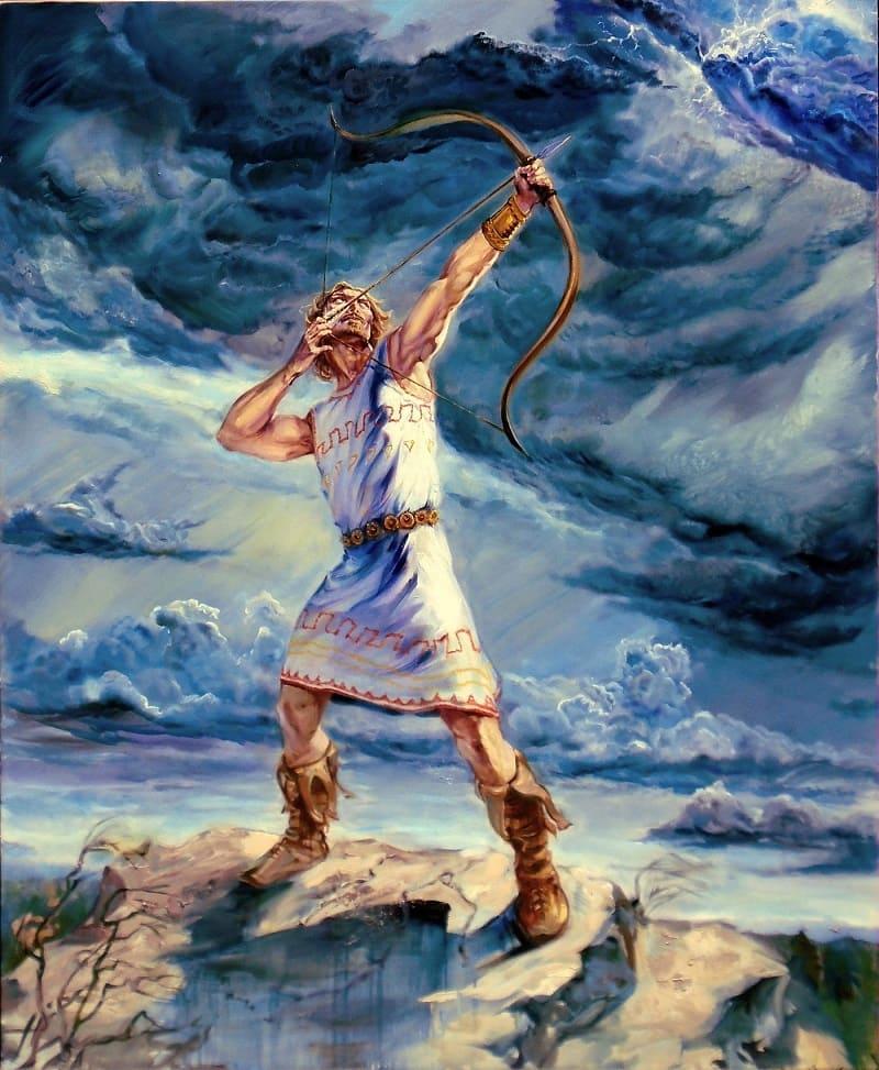 Фракийский лучник воюет с грозой