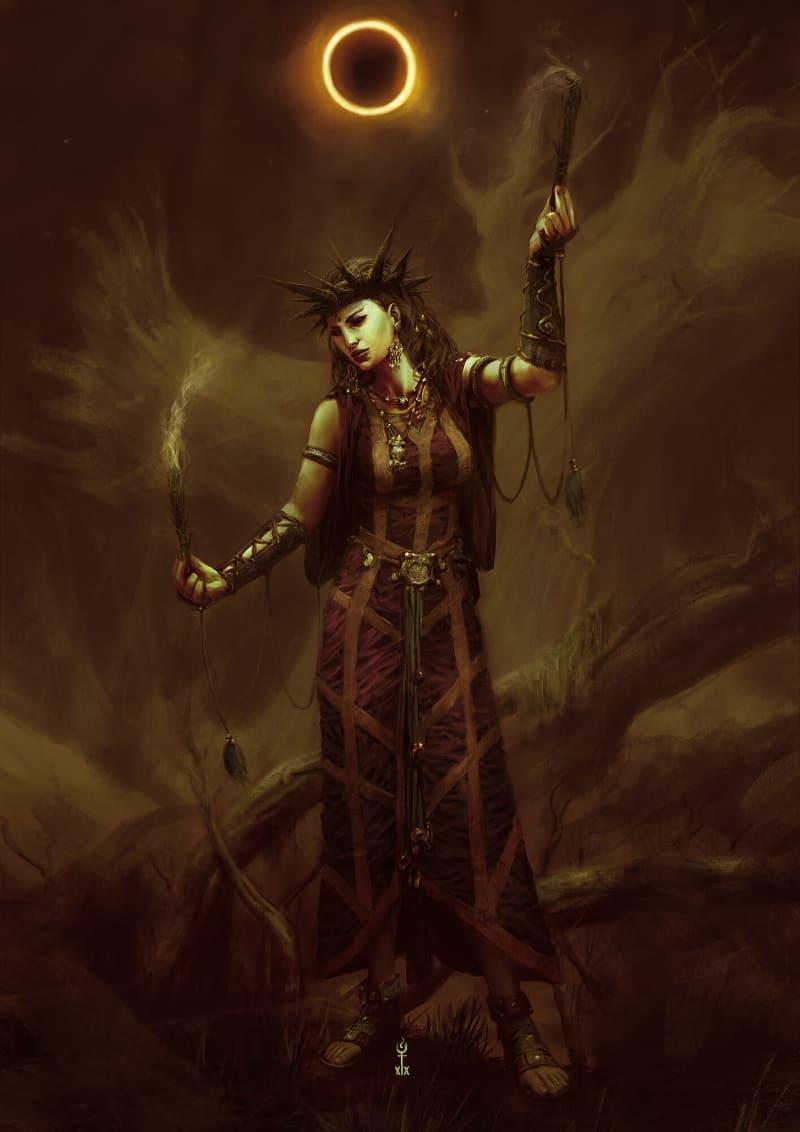 Геката — богиня тьмы и мрака в Древней Греции / © Gabriel Bulik XIX / gabrielbulik.artstation.com
