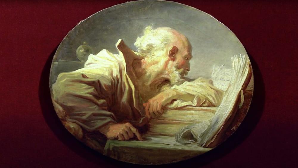 Картина Жана-Оноре Фрагонара «Философ за чтением»