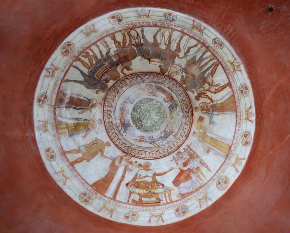 Начало 3-го века до н.э. Местонахождение : Гробница в городе Казанлак, Болгария