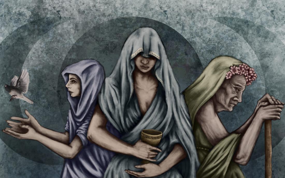Три ипостаси богини мрака Гекаты / © Alessandra Coppola / aangether.com