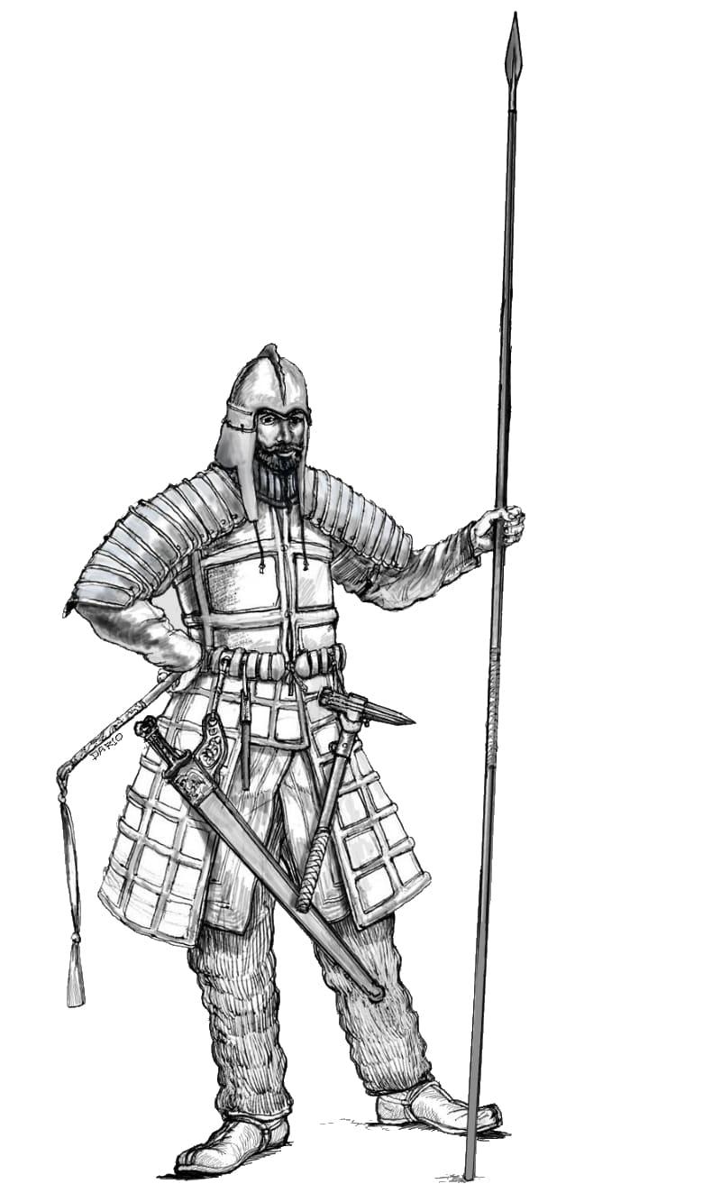 Массагетский тяжеловооружённый всадник, III век до н.э. / © Darius Wielec