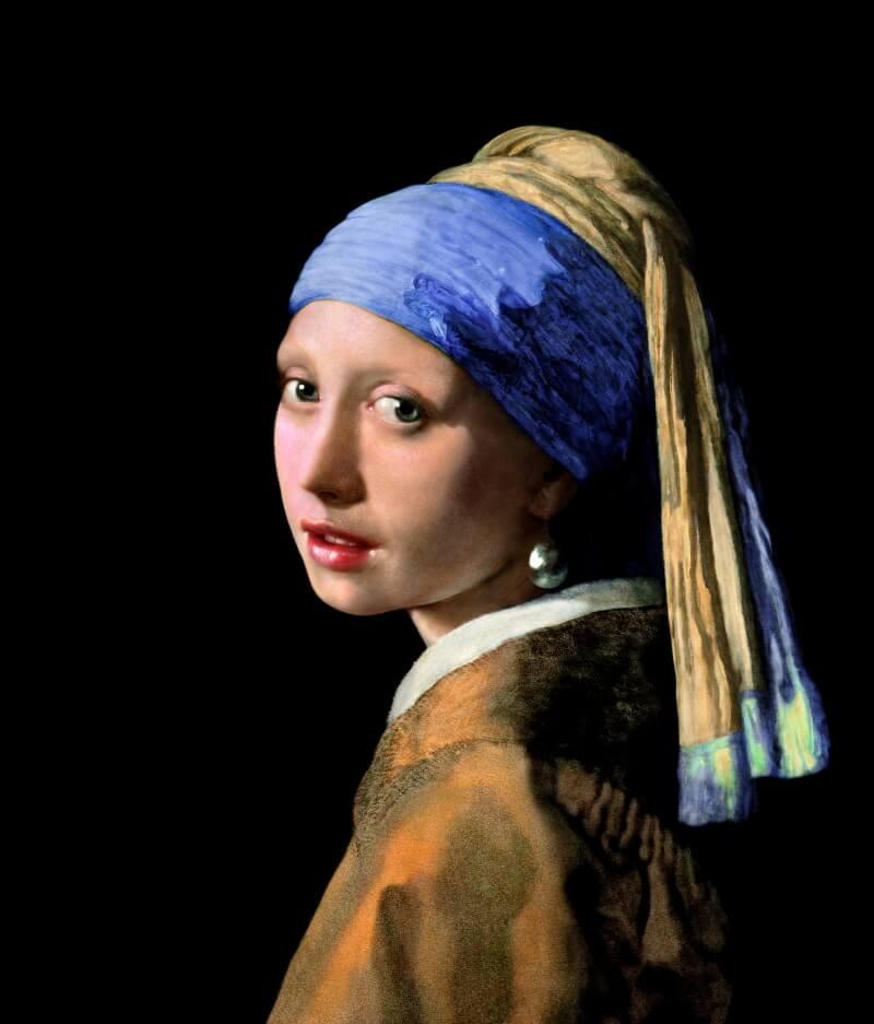 «Девушка с жемчужной серёжкой» после реконструкции Koorosh Orooj / vphotobrush.com