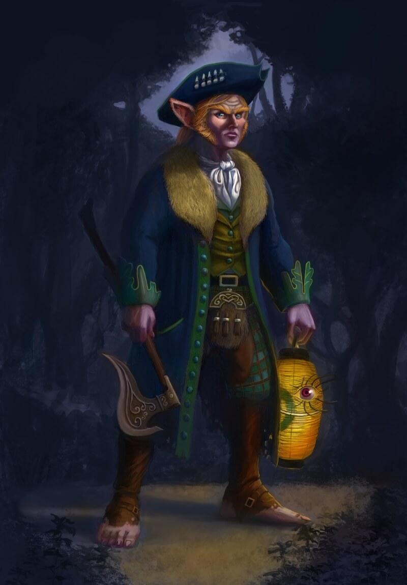 Дини Ши в ирладской мифологии / © Andrew Pappas / andrewpappas.artstation.com