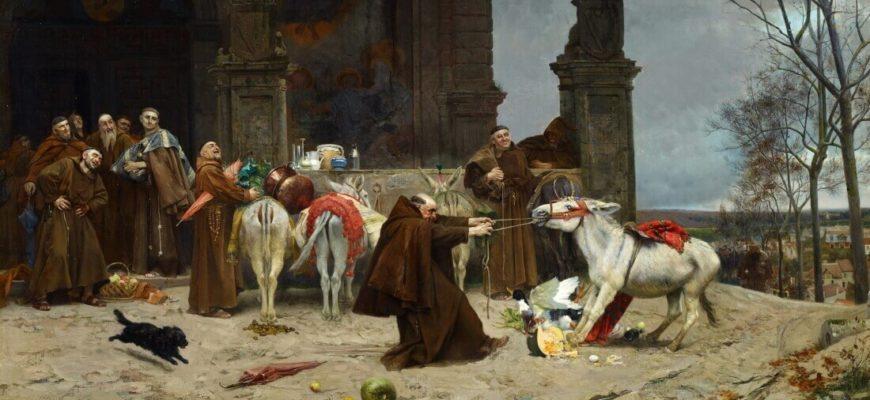 Эдуардо Замакоис Забала «Возвращение в монастырь», 1868 год
