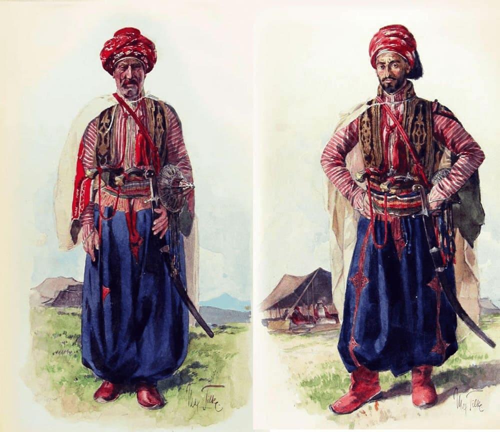 Езиды в традиционной одежде